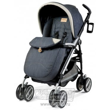 Коляска трость Peg Perego Pliko SWITCH COMPACT COMPLETTO DENIM джинсовый  Peg Perego