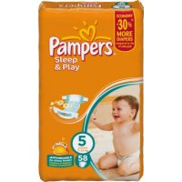 Подгузники Pampers Sleep and Play 5 Junior 11-25кг 58 штук Pampers